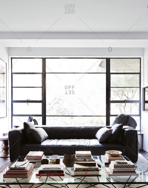 April 24, 2014: A bright living room setting