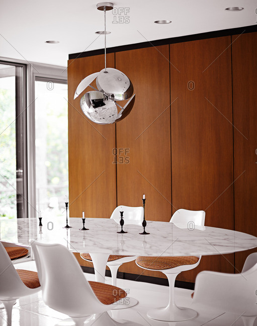 September 12, 2014: Dining room with modern furnishing