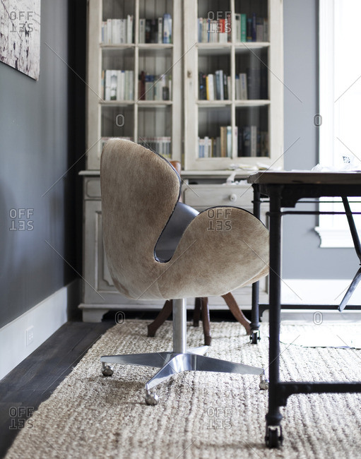 July 1, 2014: Swan design chair in home