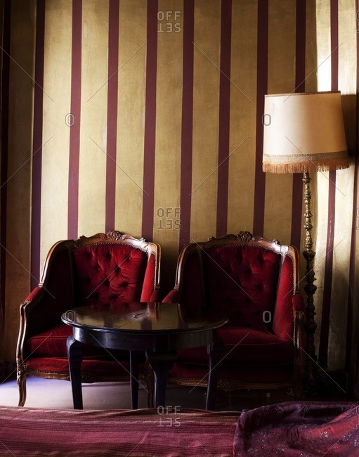 March 24, 2013: Antique chairs in Moroccan bedroom