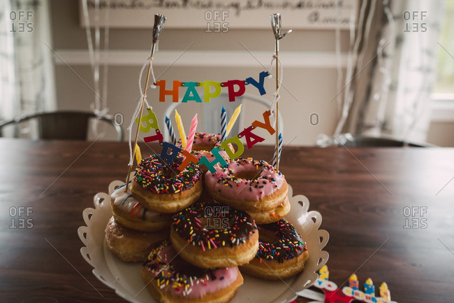 Donut birthday platter