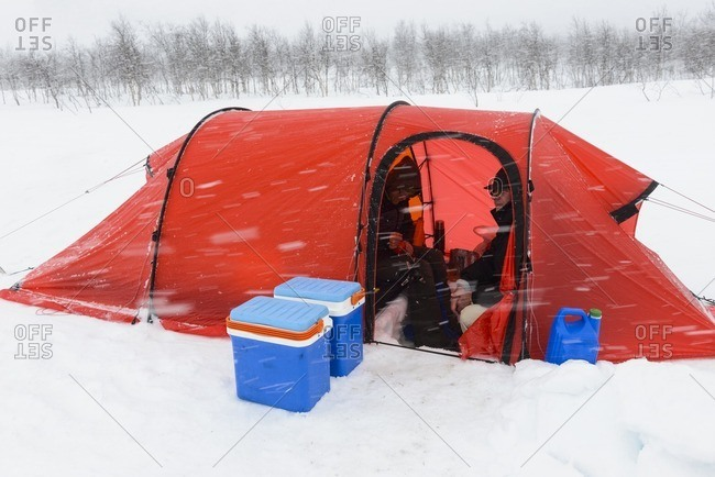 Tent at winter - Offset Collection