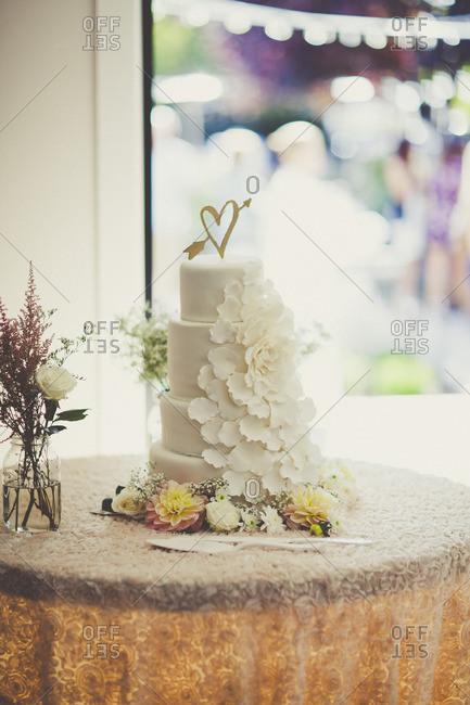Cake with petal cascades