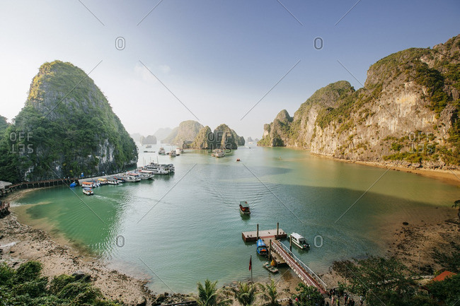 Scenic view of Halong Bay