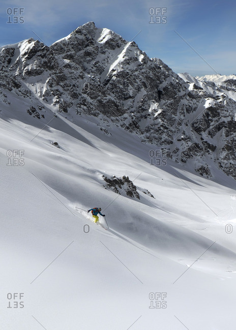 France, Queyras National Park, Off piste, skiing