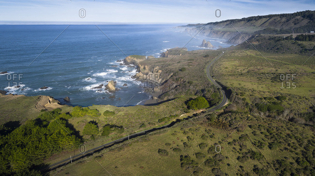 USA, California, aerial view of Highway 1