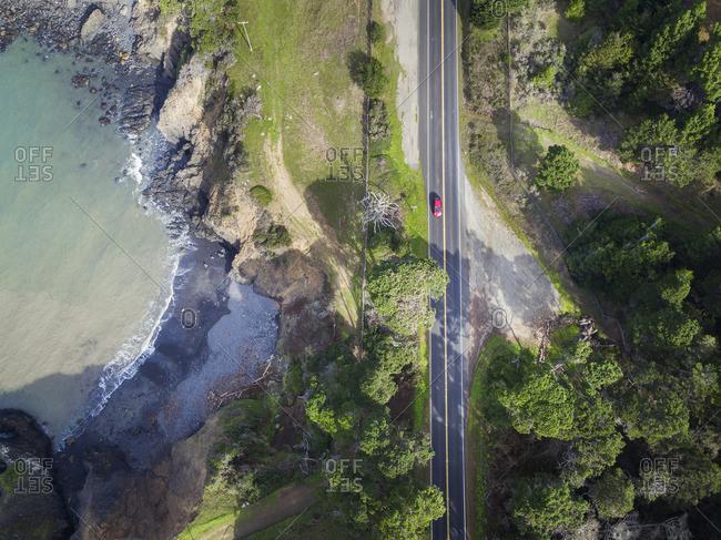 USA, California, car on Highway 1