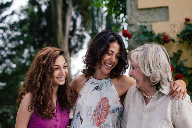Three generations of female family together