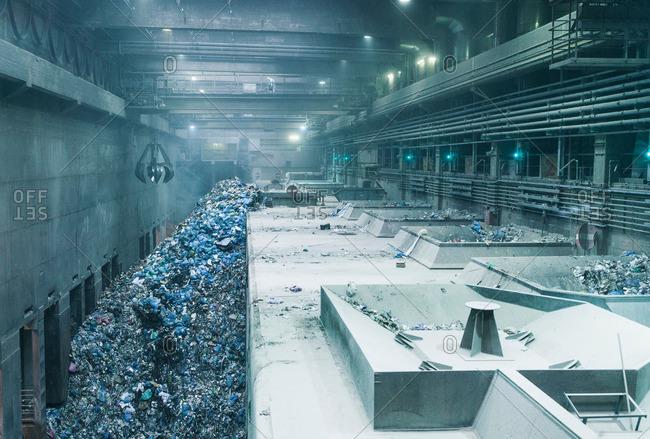 Scrap metal in a recycling depot