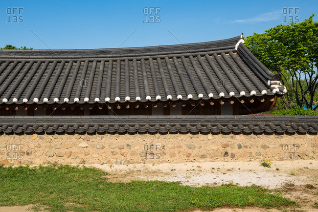 Architecture in the hanok village of Gyeongju Gyochon in South Korea