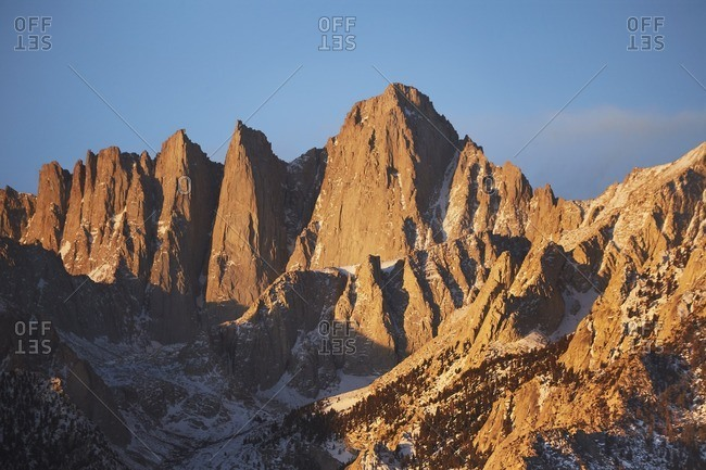 Peaks of granite mountain