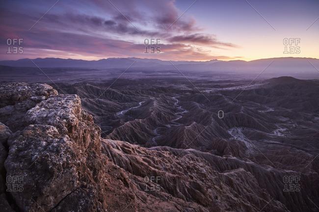 A vast range of mountains