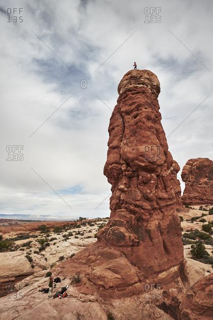 Person on Owl Rock, Utah