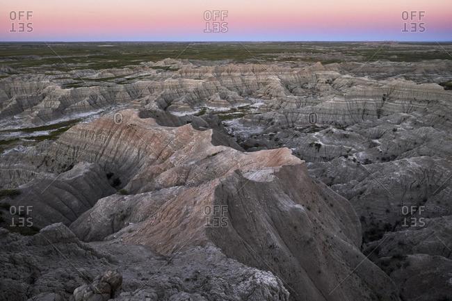 Landscape of Badlands National Park