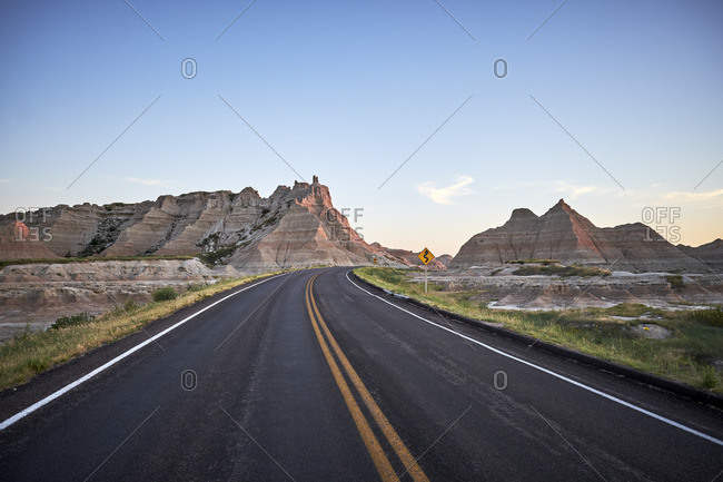 A remote South Dakota road
