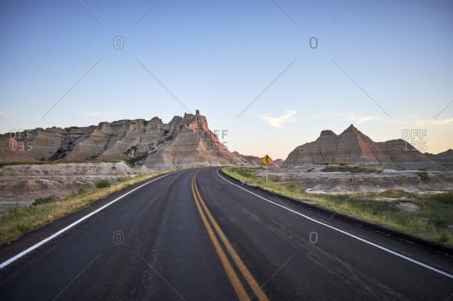 A remote South Dakota road