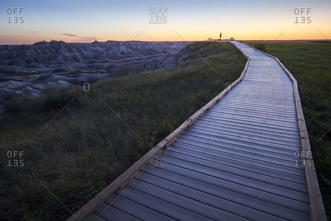 Trail over Badlands National Park