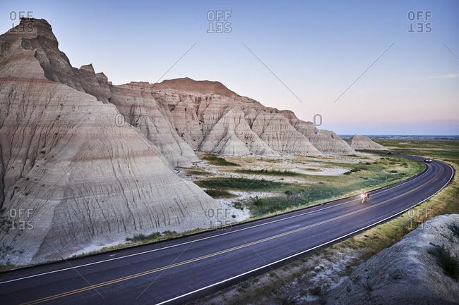 Vehicles on remote South Dakota road
