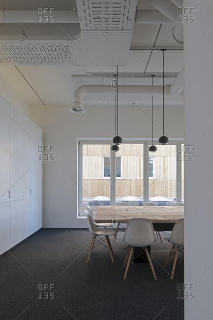 A modern dining room design