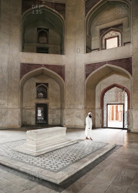 New Delhi, India - September 25, 2008: Interior of Humayun's Tomb
