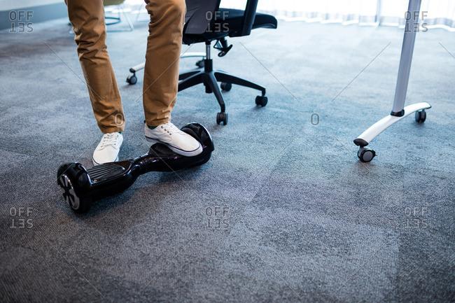 Man using a smart balance wheel