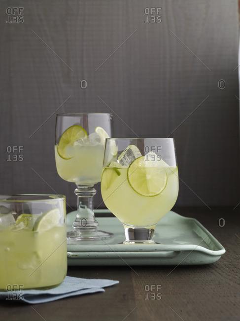 A honeydew melon juice drink