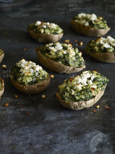Twice baked filled potatoes