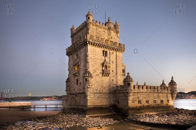The Belem tower on the Tagus River