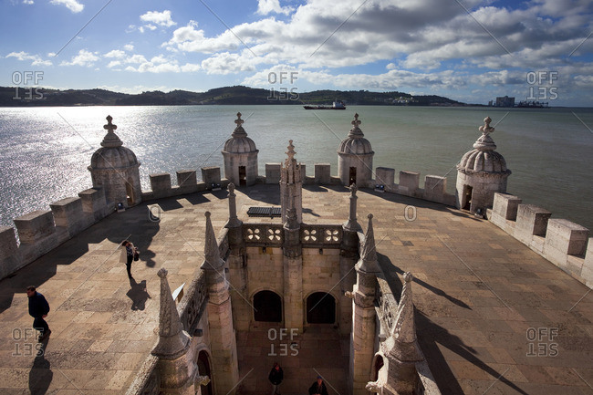 Lisbon, Portugal - February 8, 2013: The Tagus River from the Belem tower