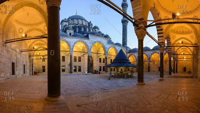Istanbul, Turkey - March 1, 2013: Faith mosque