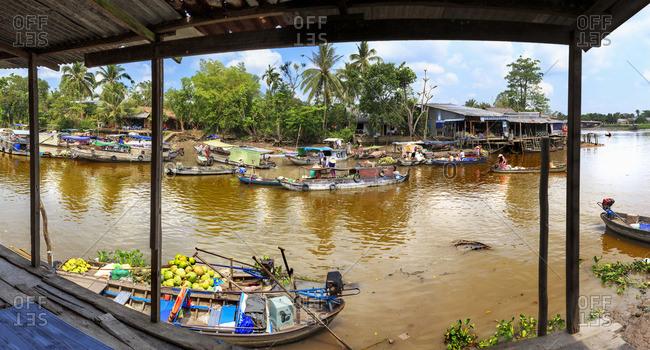 Boat market on the Mekong River