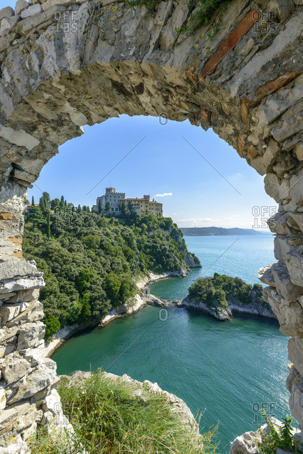 Duino Castle, view from the old castle