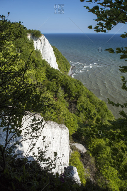Konigsstuhl and chalk cliffs at the seaside in Jasmund National Park, Germany