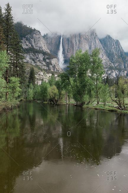River near the base of El Capitan in Yosemite National Park, California