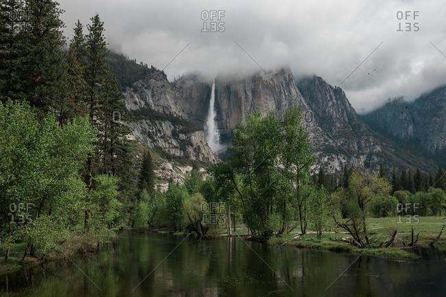 River near the base of El Capitan in Yosemite National Park