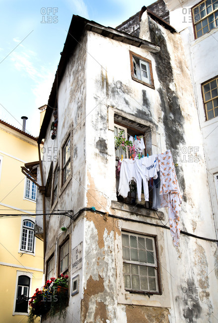 Hanging laundry in Portugal