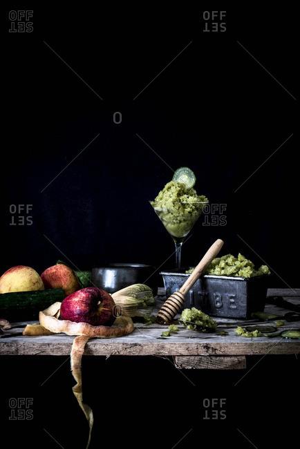 Cucumber and apple granita