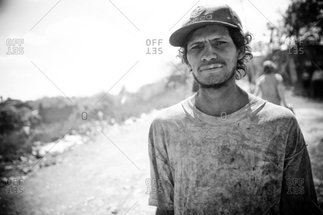 Managua, Nicaragua - January 24, 2009: Young man at the La Chureca