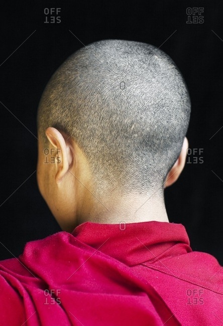Portrait of a Tibetan nun/monk, Mcleod Ganj, Dharamsala, India