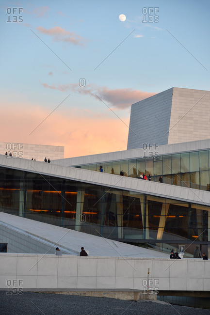Oslo, Norway - May 1, 2015: Oslo Opera House at sunset, Norway