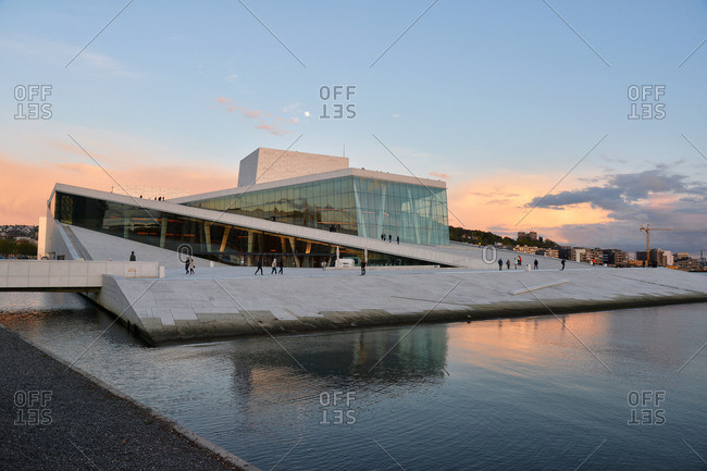 Oslo, Norway - May 1, 2015: The Norwegian Opera and Ballet Oslo, Norway