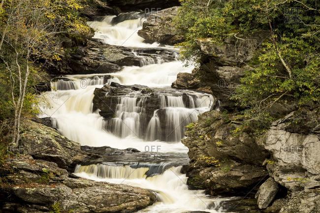 Cullasaja Falls near Highlands, North Carolina