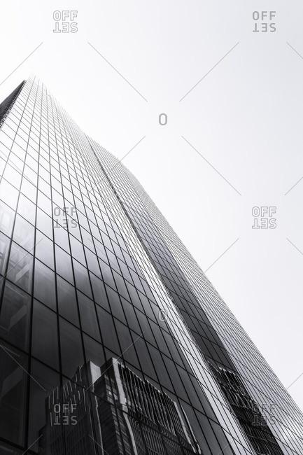 Glass skyscraper exterior, Tokyo