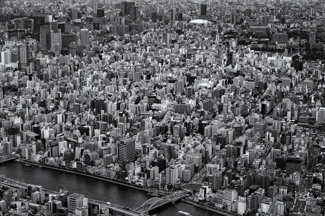 Central Tokyo from above
