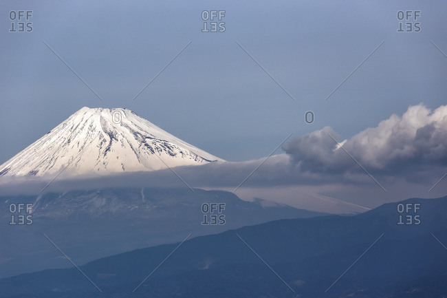 Clouds across Mt. Fuji, Japan