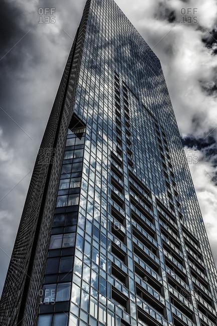 Tokyo, Japan - January 26, 2014: Apartment tower, Nishi-Shinjuku