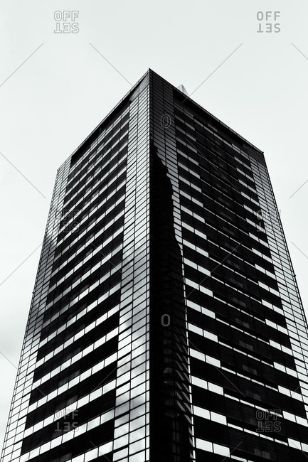 Tokyo, Japan - September 14, 2014: Office tower in financial center