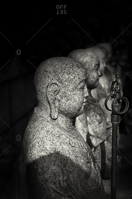 Buddhist statues at Gokoku-ji temple, Tokyo