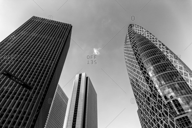 Tokyo, Japan - September 20, 2015: Nishi-Shinjuku skyscrapers