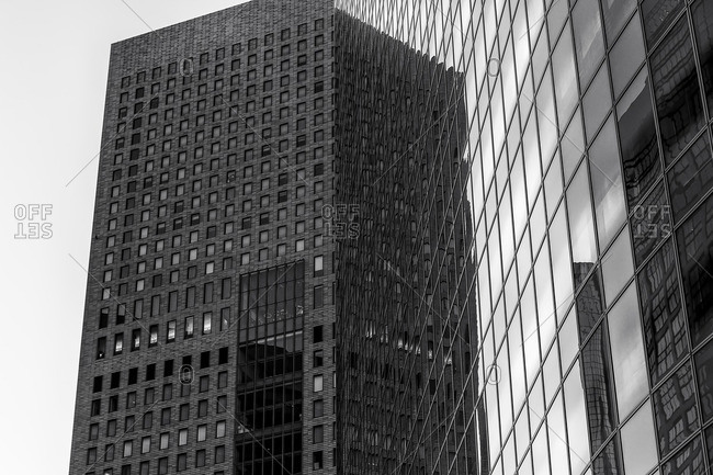 Office buildings with reflections, Tokyo